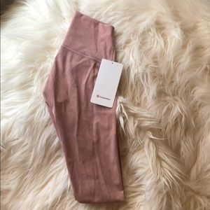 "Lululemon Wunder Under HR Tight 28"" Pink"